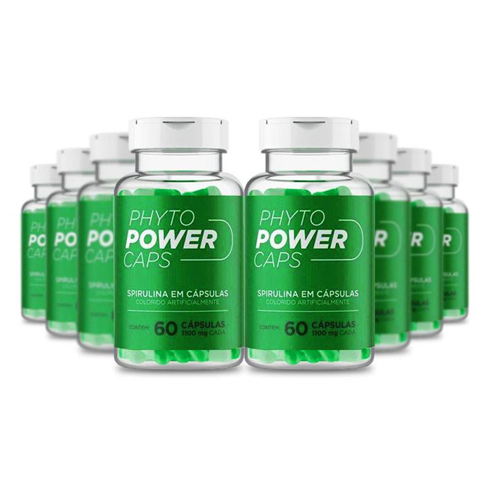 Phyto Power Caps 1100mg 60 Cápsulas 8 Potes  - Composto Natural