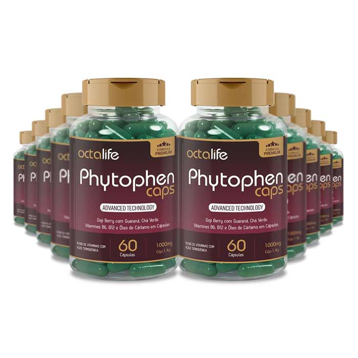 Phytophen Caps 60 Cápsulas 10 Potes  - Composto Natural