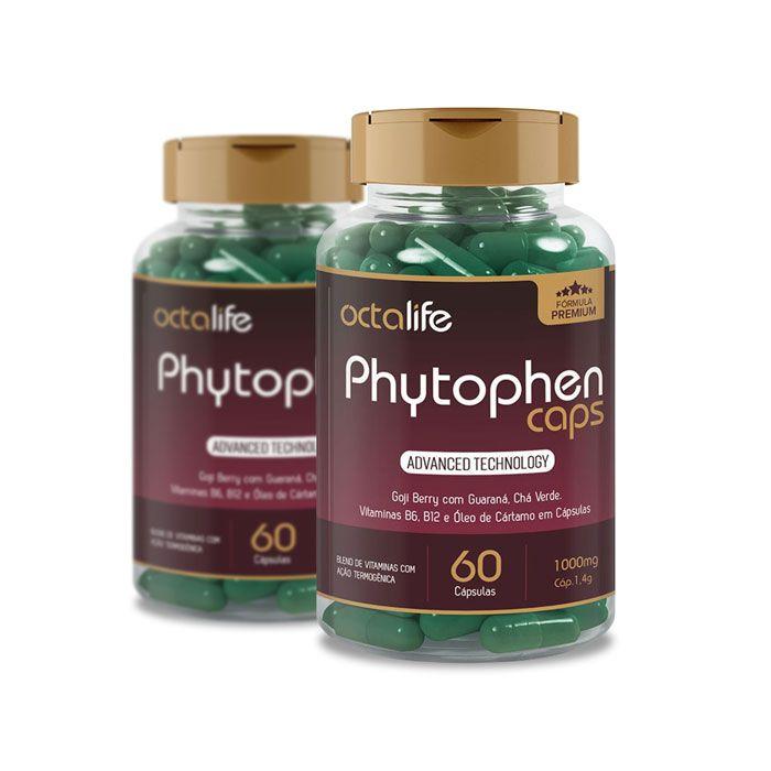 Phytophen Caps 60 Cápsulas 2 Potes  - Composto Natural