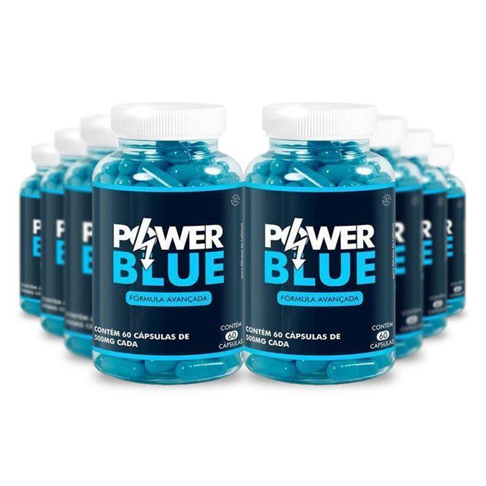 Power Blue 60 Cáps 8 Potes  - Composto Natural
