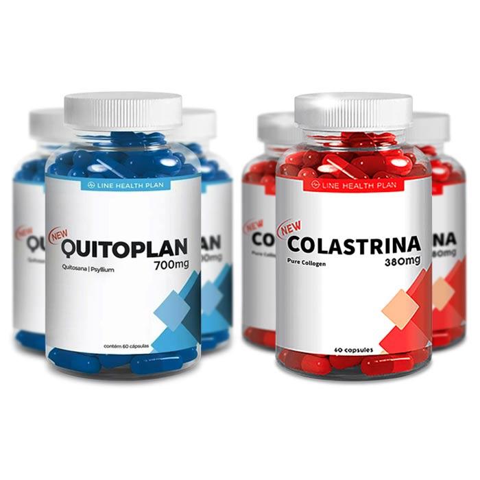 Promoção Kit 3 Potes Quitoplan + 3 Potes Colastrina  - Composto Natural