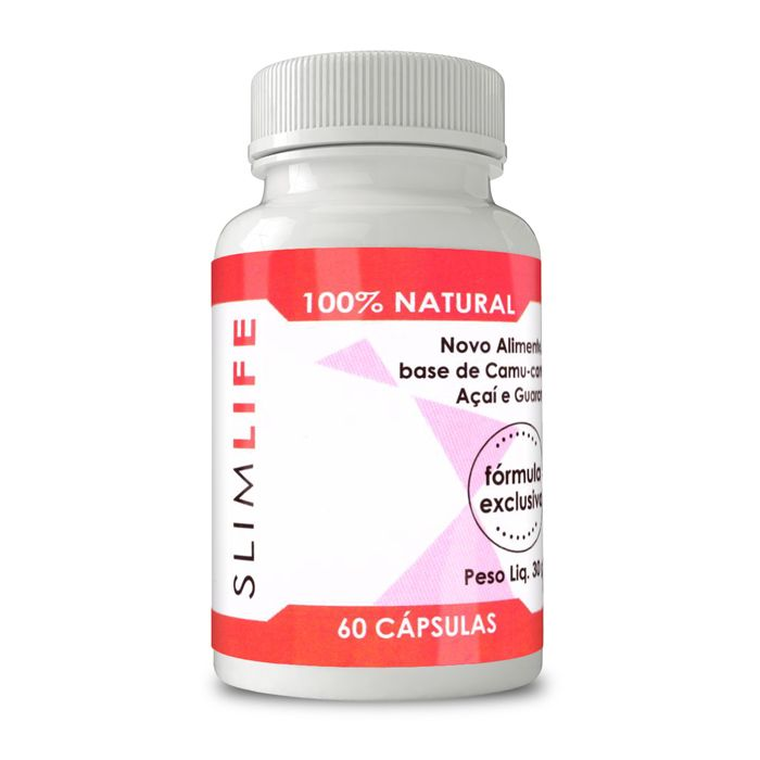 Slim Life Original - 100% Natural - 60 Cápsulas 640mg  - Composto Natural