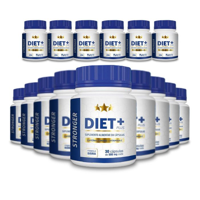 Stronger Diet Plus 30 Cápsulas 15 Potes  - Composto Natural