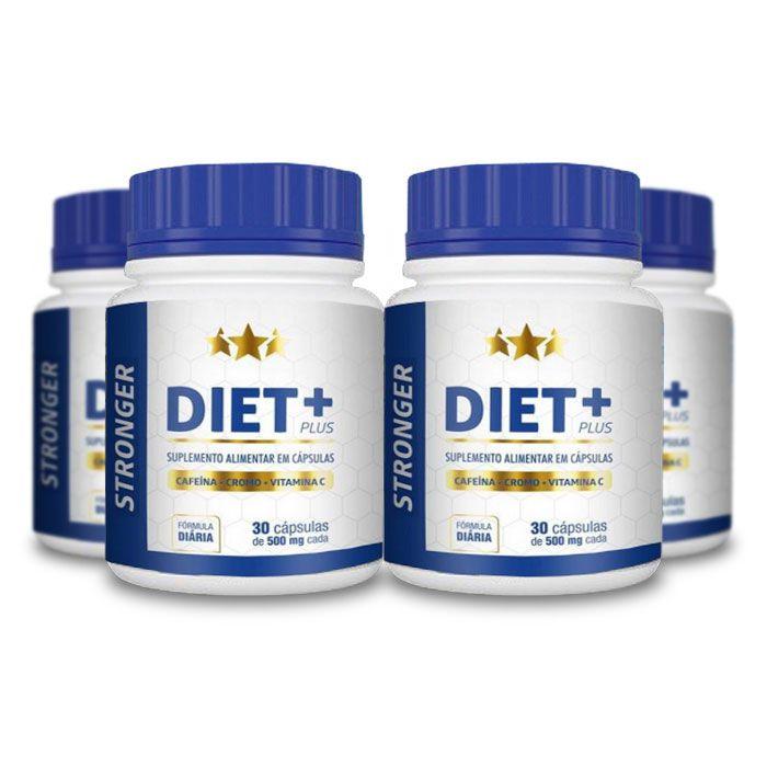 Stronger Diet Plus 30 Cápsulas 4 Potes