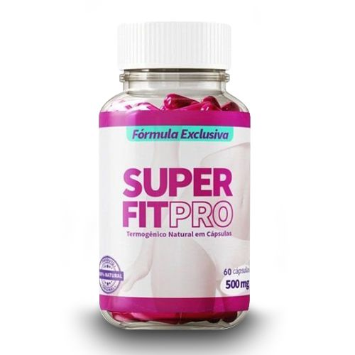 Super Fit Pro - 500mg - 60 Cápsulas  - Composto Natural
