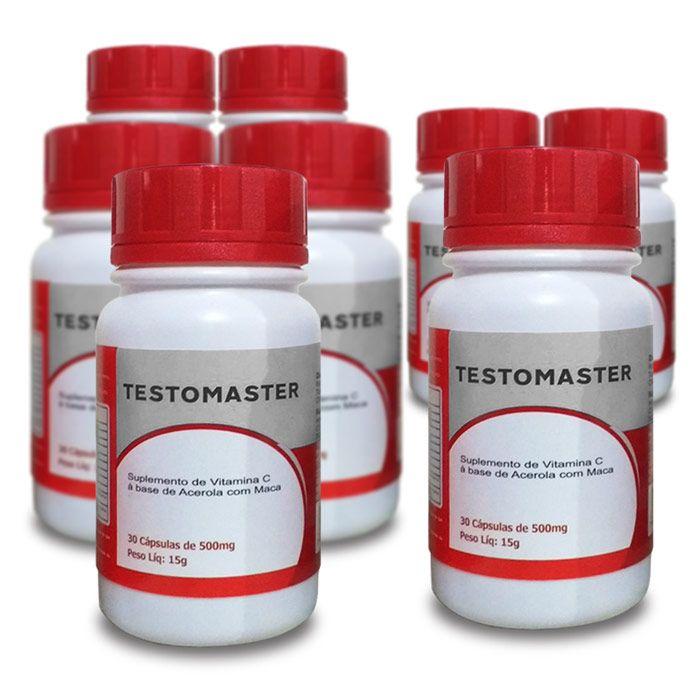 Testomaster - 30 cápsulas - Compre 5 Leve 8  - Composto Natural