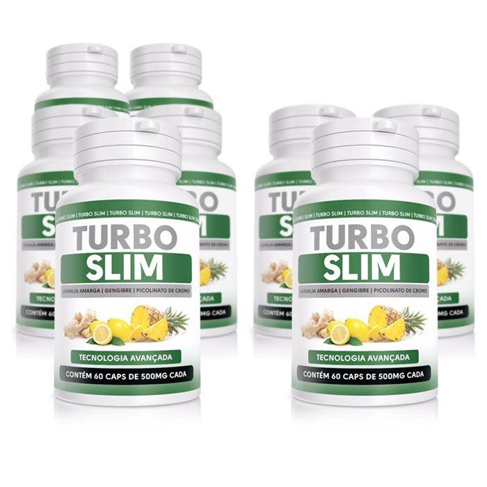 Turbo Slim Original - 60 Cápsulas 500mg - Compre 5 Potes Leve 8  - Composto Natural