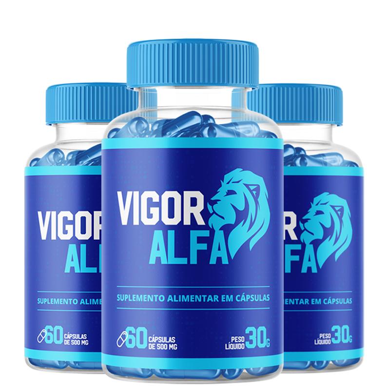 Vigo Alpha - Combo com 3 potes  - Composto Natural