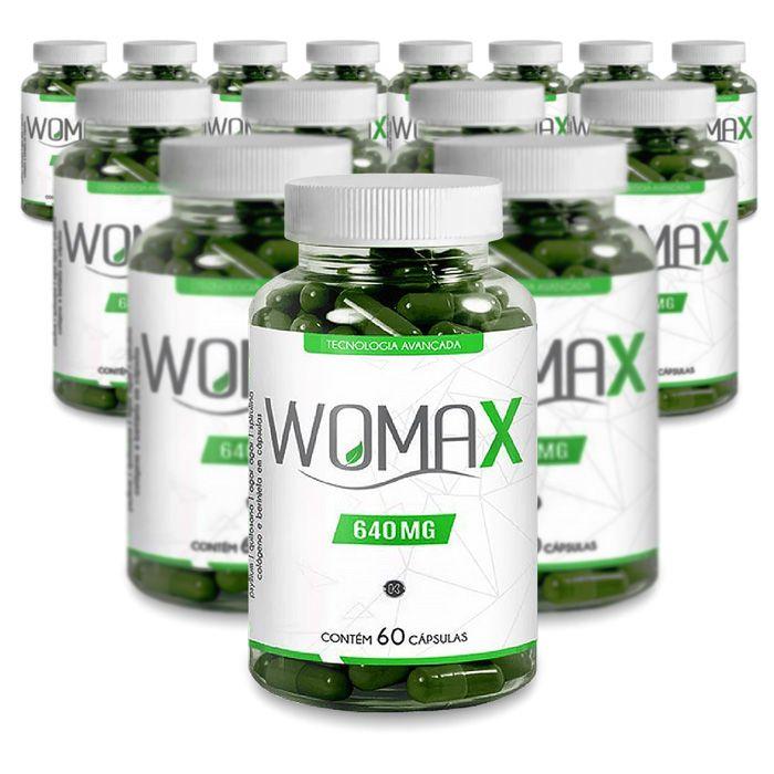 Womax 640mg 60 Cáps Promoção 15 Potes  - Composto Natural