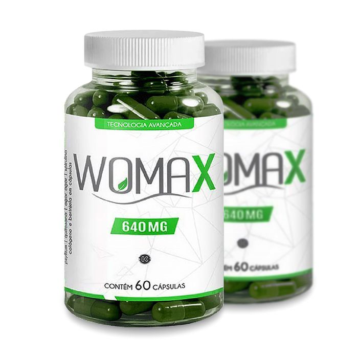 Womax 640mg 60 Cáps Promoção 2 Potes  - Composto Natural