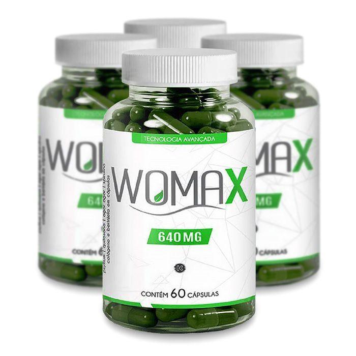 Womax 640mg 60 Cáps Promoção 4 Potes  - Composto Natural