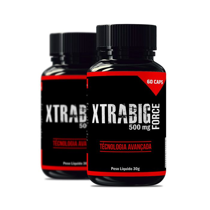 XtraBig Force 500 mg 60 Cápsulas 2 Potes