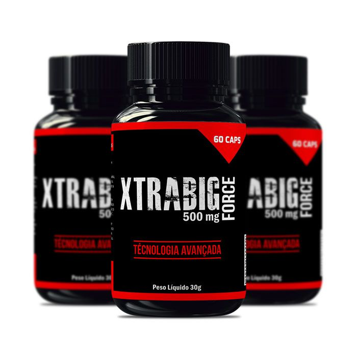 XtraBig Force 500 mg 60 Cápsulas 3 Potes