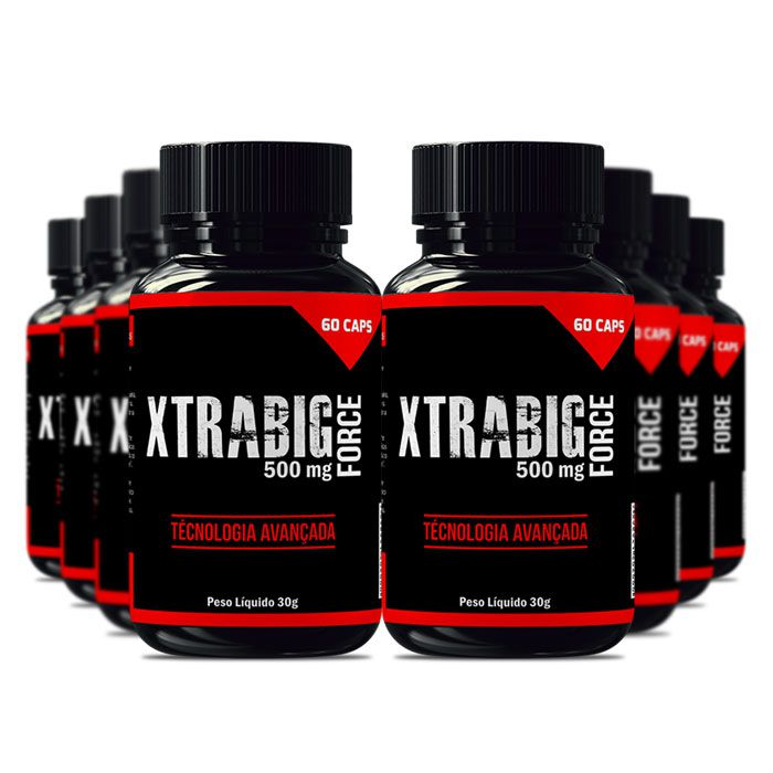 XtraBig Force 500 mg 60 Cápsulas 8 Potes