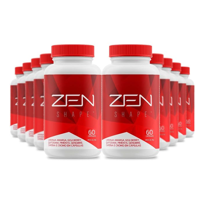 Zen Shape 60 cápsulas 10 Potes  - Composto Natural
