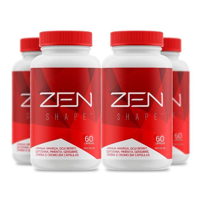 Zen Shape 60 cápsulas 4 Potes  - Composto Natural