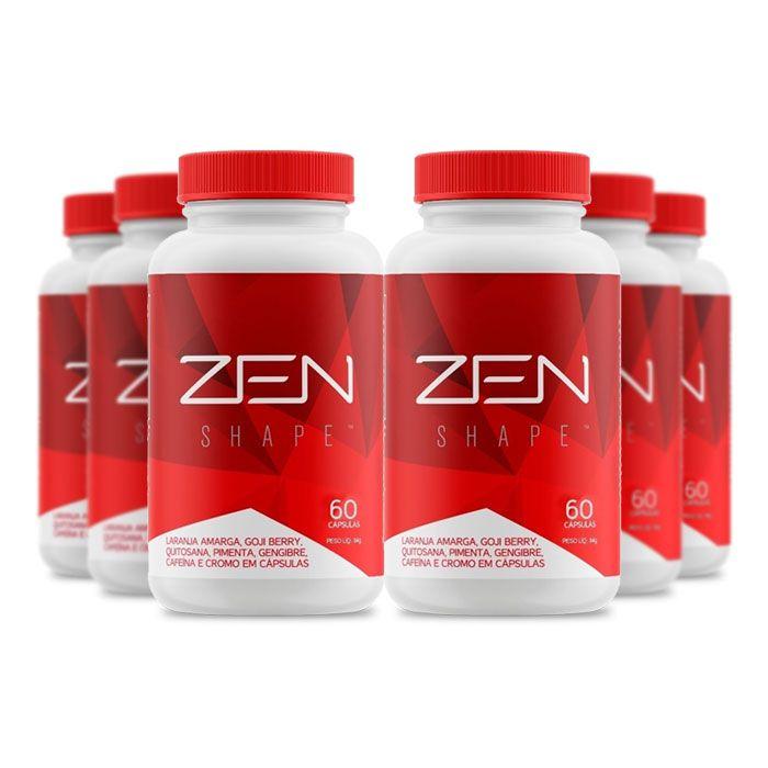 Zen Shape 60 cápsulas 6 Potes  - Composto Natural