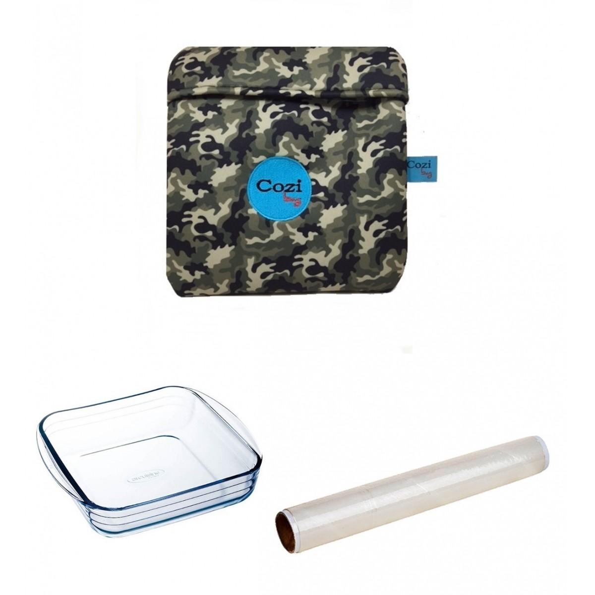 Kit Cozi Bag 1 Litro + Refratária 1 Litro  + Film