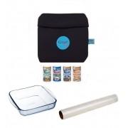 Super Kit Cozi Bag 750ml  + Refratária 750ml + Film + 4 Temperos Magic