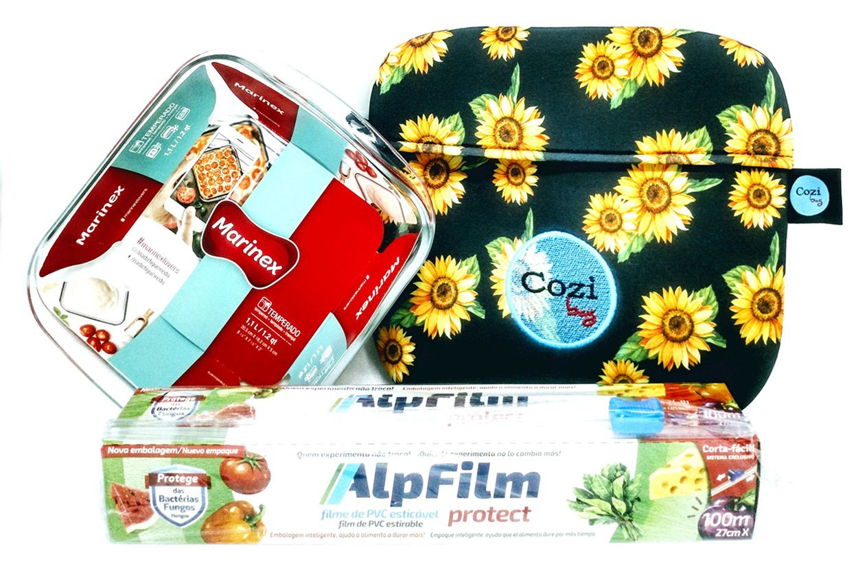 Kit Cozibag Universal 1 Litro + Refratária 1 Litro  + Filme c/ Trilho