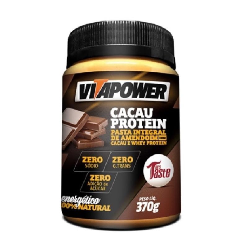 Pasta de Amendoim com Cacau e Whey Protein (370g) VitaPower