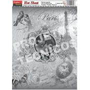 PAPEL HOT SHEET - ESPECIAL DÉCOUPAGE - C/2 UNDS. - AMOR EM PARIS