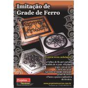 KIT IMITAÇÃO DE GRADE DE FERRO NEGRO - A4 - C/APOSTILA DE DESENHOS, PASSO A PASSO + 5 FOLHAS DE PAPEL MILIMETRADO EM 5MM + MAXXICOLA 15 ML.