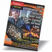 DVD - CAIXA EM PAPEL ARTE LUZ  - COM E SEM LED - Nº 15 COM JORGE PINTO