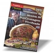 DVD - POLICROMAGEM FLORAL OURO - Nº 8 COM JORGE PINTO