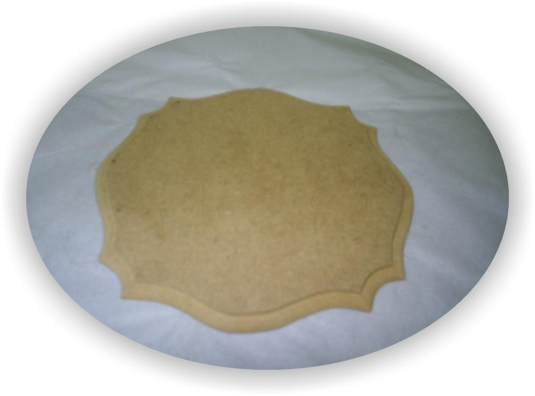 PLACAS/ALMOFADAS EM MDF - MÉDIA - 1009 - ROMA - Medida: 16x18 cm.