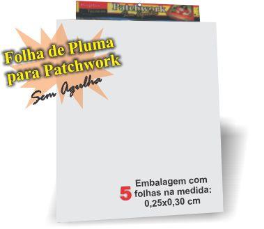 FOLHA DE PLUMA C/5 UNDS. TAMANHO: 30X25