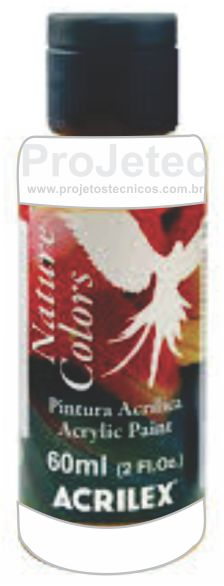 TINTA ACRÍLICA - NATURE COLORS 60 ML. BRANCO