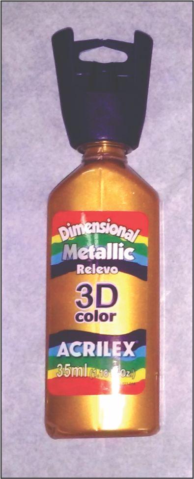 DIMENSIONAL DOURADO ACRILEX - 35 GR.