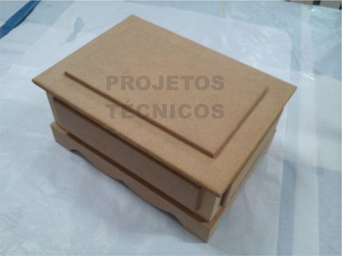 CAIXA MDF - MODELO PORTUGUESA - OCA - 26,5X19X13