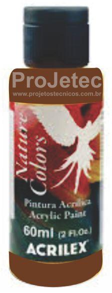 TINTA ACRÍLICA - NATURE COLORS 60 ML. MARROM ESCURO