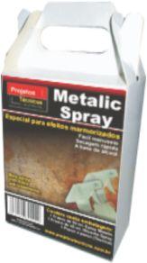 METALIC SPRAY - OURO 60 ML. - PARA EFEITOS MARMORIZADOS