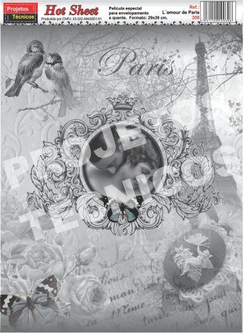 PAPEL HOT SHEET - ESPECIAL DÉCOUPAGE - C/2 UNDS. - AMOR EM PARIS