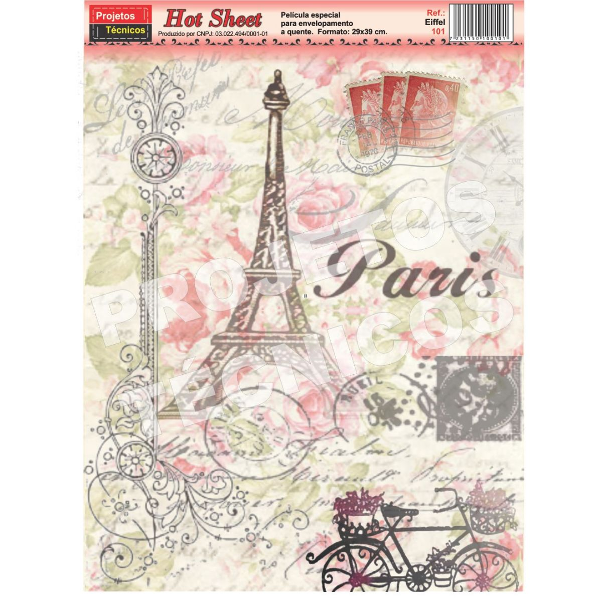 PAPEL HOT SHEET - ESPECIAL DÉCOUPAGE - C/2 UNDS. - PARIS - FORMATO A3