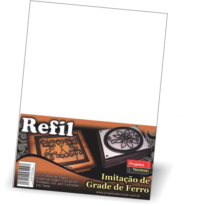 REFIL GRADE DE FERRO - A4 - MILIMETRADO EM 5MM C/5 FOLHAS + MAXXICOLA 15 ML.