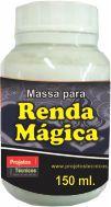 MASSA PARA RENDA MÁGICA 150 GR.  MAIS FLEXÍVEL E FÁCIL DE COLAR