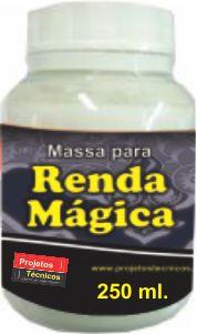 MASSA PARA RENDA MÁGICA 250 GR. MAIS FLEXÍVEL E FÁCIL DE COLAR