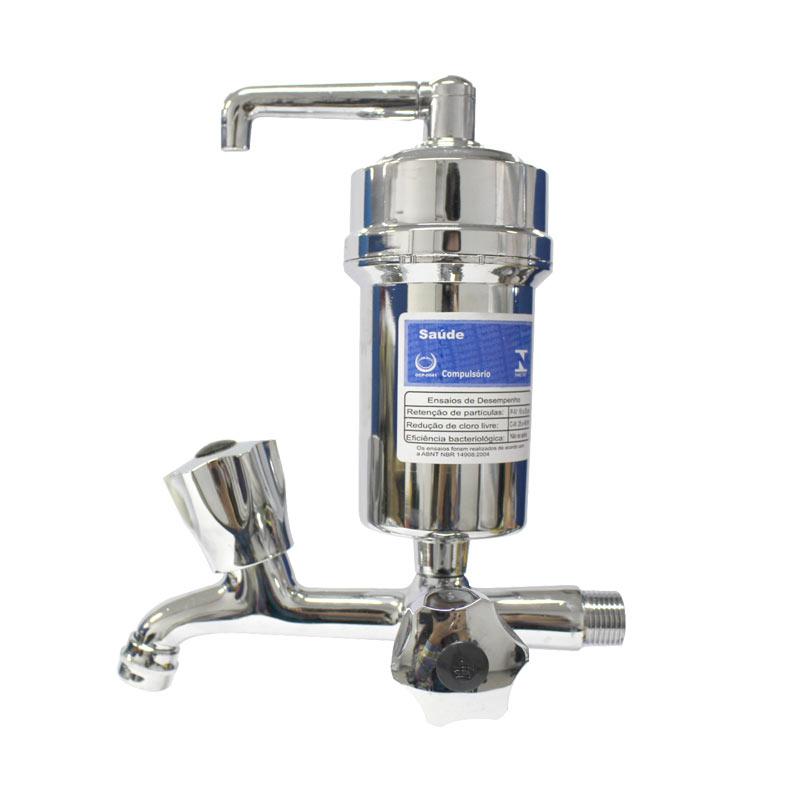 Torneira Com Filtro Purificador Metal Cromada Hidropal - CR C50