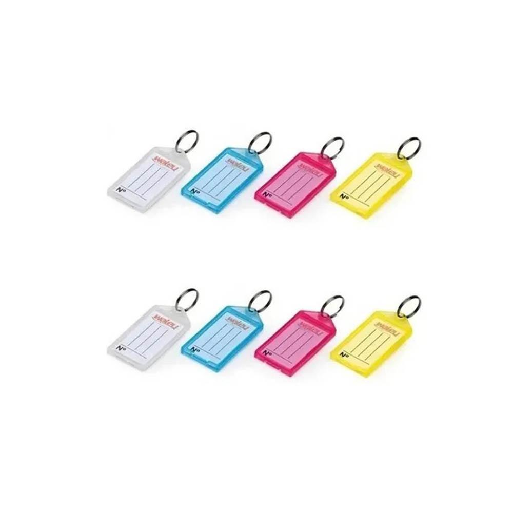 100 Chaveiros Organizadores de Chaves c/ Etiquetas Coloridas