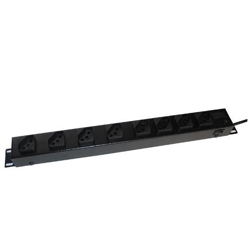 Filtro de linha Régua 8 Tomadas Rack 19 110V/220V - 2200 Watts 10 unidades
