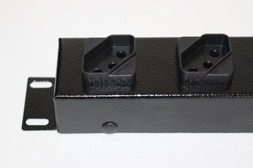 Régua 8 Tomadas Rack 19 110V/220V - 2200 Watts 10 unidades