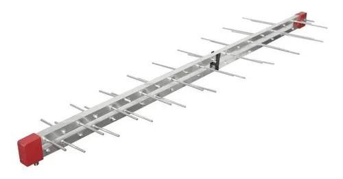 10 Antena Digital Uhf 4k Log 38 Elemento Capte Longo Alcance
