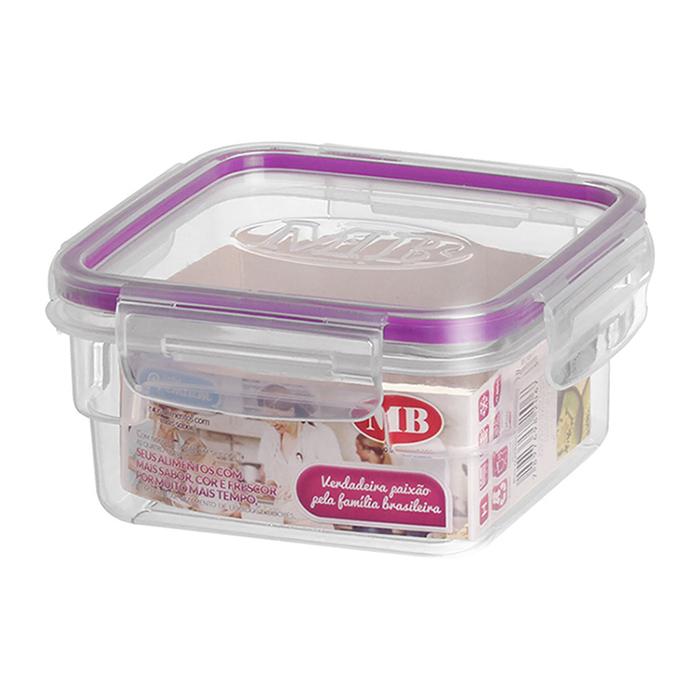 Pote Premium Quadrado Hermértico Alimento Mantimento 14x14x7 0,85L
