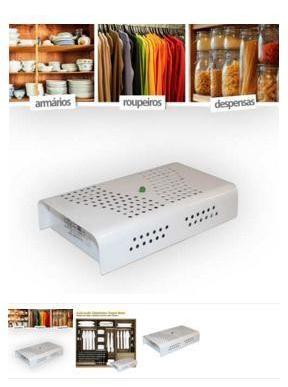 Anti mofo Desumidificador Branco 110v e Repelente Eletrônico Duo