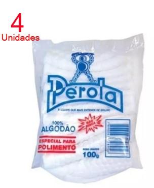 Algodão Para Polimento Perola 100gr - 4 unidades