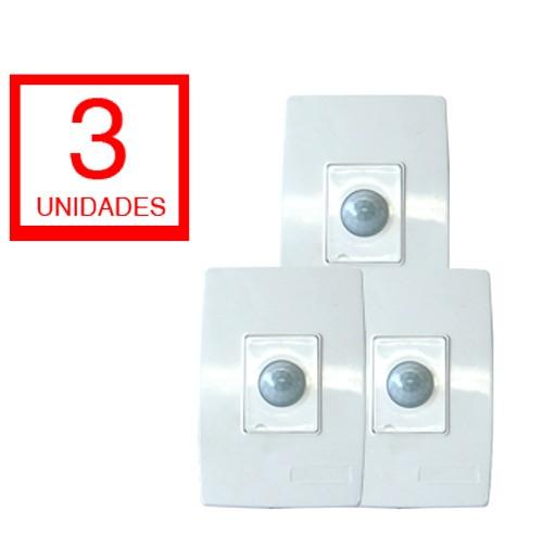 Sensor De Presença Eletrônica De Embutir Espelho Capte - 3 unid
